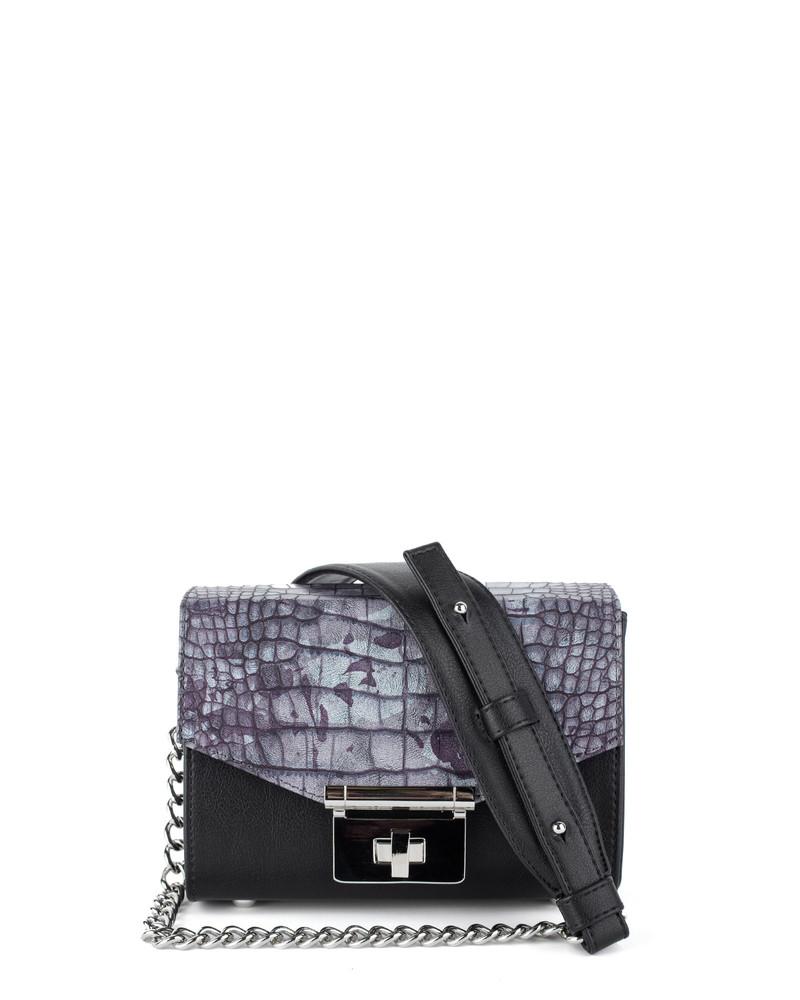 Сумка Kette XS, Color - черный & крокодил