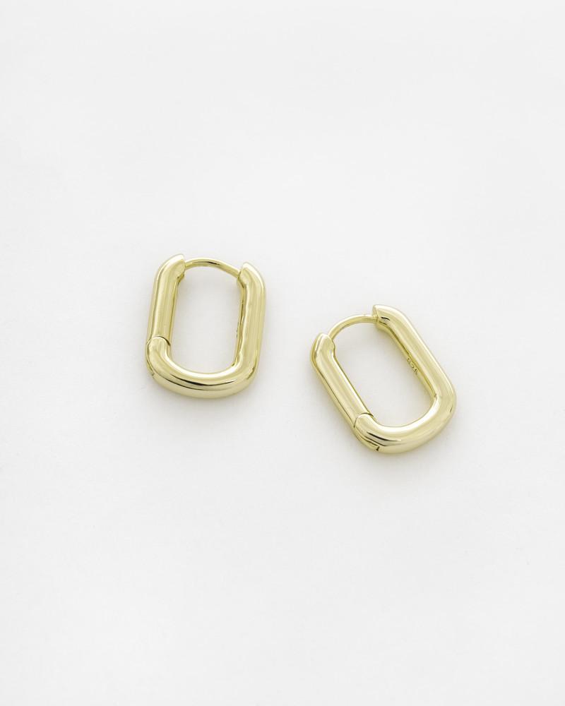 Прямоугольные серьги, Цвет - золото